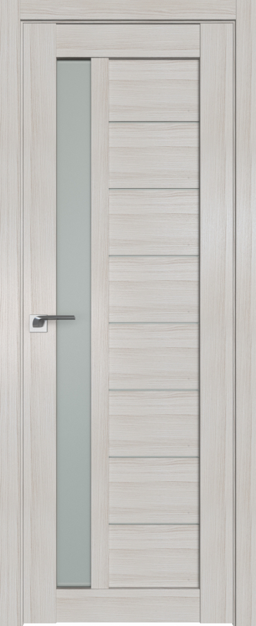 Межкомнатная дверь ProfilDoors 37X Эш Вайт Мелинга стекло матовое