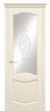 Межкомнатная дверь Дариано Соренто Эмаль слоновая кость со стеклом