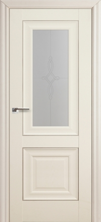 Межкомнатная дверь ПрофильДорс 28X Эш вайт стекло узор