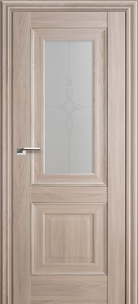 Межкомнатная дверь ПрофильДорс 28X Орех пекан стекло узор