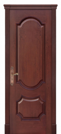 Межкомнатная дверь Дариано Женева Красное дерево глухая