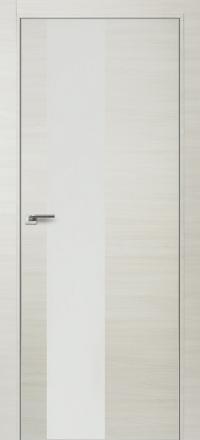 Межкомнатная дверь ПрофильДорс 5Z кромка хром цвет Эш вайт кроскут стекло белый глянец