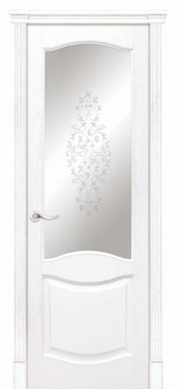 Межкомнатная дверь Дариано Соренто Ясень бланко со стеклом