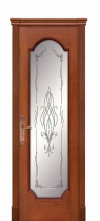 Межкомнатная дверь Дариано Женева F Черешня со стеклом