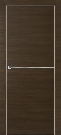 Межкомнатная дверь ПрофильДорс 12Z кромка хром цвет Малага черри кроскут алюминиевый молдинг