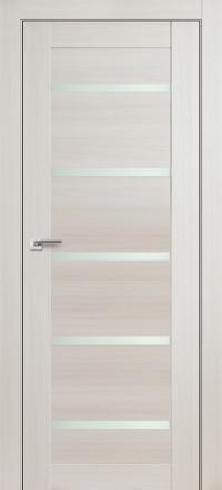 Межкомнатная дверь ПрофильДорс 7X Эш вайт мелинга стекло матовое
