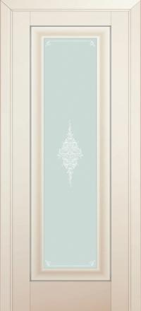 Межкомнатная дверь ПрофильДорс 24U Магнолия Сатинат стекло кристалл матовое