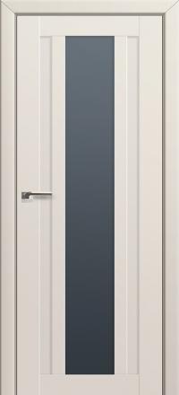 Межкомнатная дверь ПрофильДорс 16U Магнолия Сатинат стекло графит