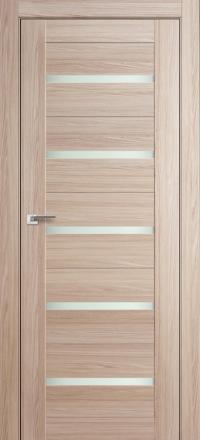Межкомнатная дверь ПрофильДорс 7X Капучино мелинга стекло матовое