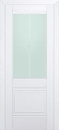Межкомнатная дверь ПрофильДорс 2U Аляска стекло узор