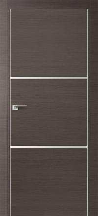 Межкомнатная дверь ПрофильДорс 2Z кромка хром цвет Грей кроскут с алюминиевыми вставками