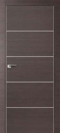 Межкомнатная дверь ПрофильДорс 7Z кромка хром цвет Грей кроскут алюминиевый молдинг