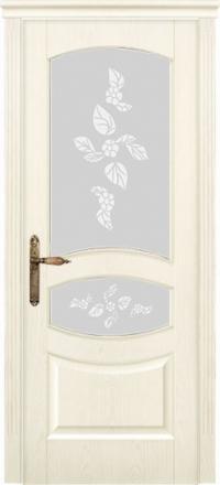 Межкомнатная дверь Дариано Махаон Ясень карамель со стеклом