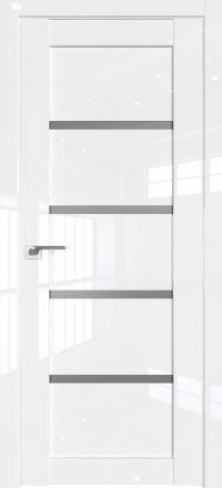 Межкомнатная дверь ProfilDoors 2.09L Белый люкс стекло графит