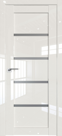 Межкомнатная дверь ProfilDoors 2.09L Магнолия люкс стекло графит