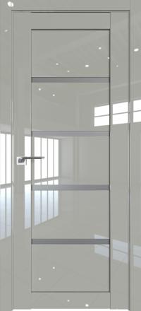 Межкомнатная дверь ProfilDoors 2.09L Галька люкс стекло графит