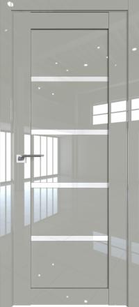Межкомнатная дверь ProfilDoors 2.09L Галька люкс стекло триплекс белый