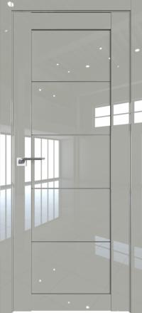 Межкомнатная дверь ProfilDoors 2.11L Галька люкс стекло графит