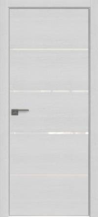 Межкомнатная дверь ProfilDoors 20ZN Монблан стекло белый лак