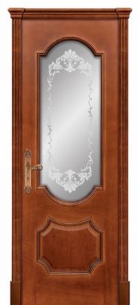Межкомнатная дверь Дариано Женева Черешня со стеклом