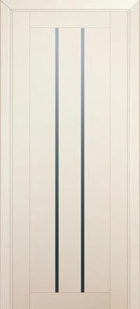 Межкомнатная дверь ПрофильДорс 49U Магнолия Сатинат стекло графит
