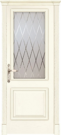 Межкомнатная дверь Дариано Турин Ясень карамель со стеклом