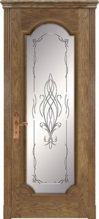 Межкомнатная дверь Дариано Женева F Дуб со стеклом