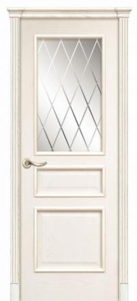 Межкомнатная дверь Дариано Чикаго Ясень бланко со стеклом