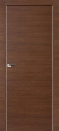 Межкомнатная дверь ПрофильДорс 1Z кромка хром цвет Малага черри кроскут глухая