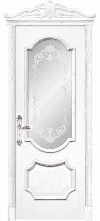 Межкомнатная дверь Дариано Женева Ясень бланко со стеклом
