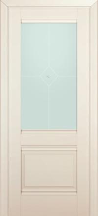 Межкомнатная дверь ПрофильДорс 2U Магнолия Сатинат стекло узор