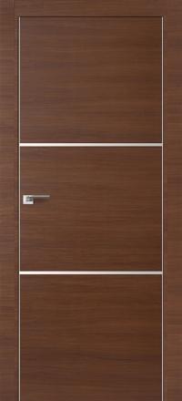 Межкомнатная дверь ПрофильДорс 2Z кромка хром цвет Малага черри кроскут с алюминиевыми вставками