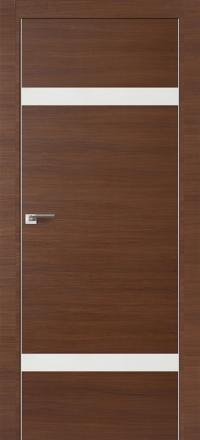Межкомнатная дверь ПрофильДорс 3Z кромка хром цвет Малага черри кроскут со стеклом