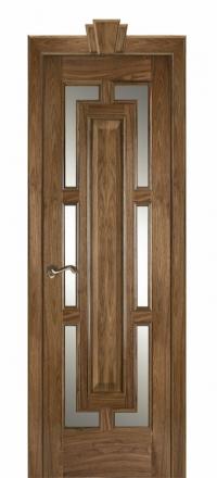 Межкомнатная дверь Дариано Барон Орех американский со стеклом