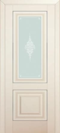 Межкомнатная дверь ПрофильДорс 28U Магнолия Сатинат стекло кристалл матовое