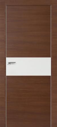 Межкомнатная дверь ПрофильДорс 4Z кромка хром цвет Малага черри кроскут со стеклом
