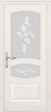 Межкомнатная дверь Дариано Махаон Ясень бланко со стеклом