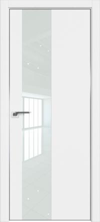 Межкомнатная дверь ProfilDoors 5E Аляска стекло белый лак