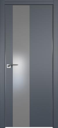 Межкомнатная дверь ProfilDoors 5E Антрацит стекло серебряный лак