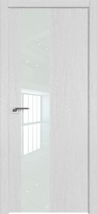 Межкомнатная дверь ProfilDoors 5ZN Монблан стекло белый лак