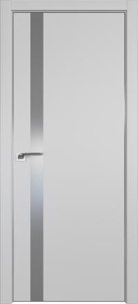 Межкомнатная дверь ProfilDoors 6E Манхэттен стекло серебряный лак