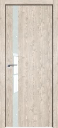 Межкомнатная дверь ProfilDoors 6ZN Каштан светлый стекло белое