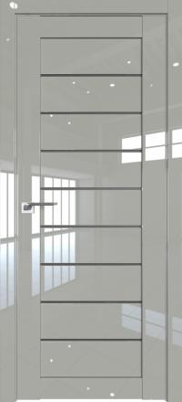 Межкомнатная дверь ProfilDoors 73L Галька люкс стекло графит