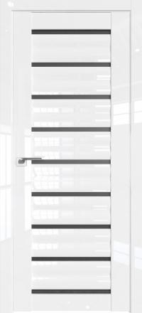 Межкомнатная дверь ProfilDoors 76L Белый люкс стекло графит