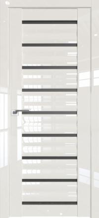 Межкомнатная дверь ProfilDoors 76L Магнолия люкс стекло графит