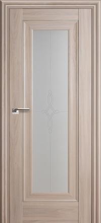 Межкомнатная дверь ПрофильДорс 24X Орех пекан стекло узор