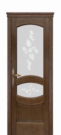 Межкомнатная дверь Дариано Махаон Дуб миндаль со стеклом