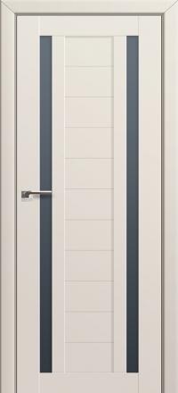 Межкомнатная дверь ПрофильДорс 15U Магнолия Сатинат стекло графит