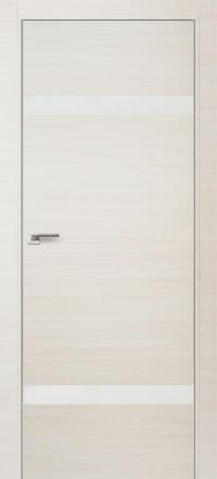Межкомнатная дверь ПрофильДорс 3Z кромка хром цвет Эш вайт кроскут стекло белый глянец