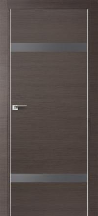Межкомнатная дверь ПрофильДорс 3Z кромка хром цвет Грей кроскут стекло серебро матовый лак